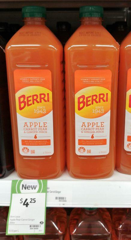 Berri 2L Apple Carrot Pear & Ginger Juice