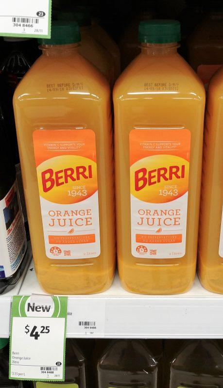 Berri 2L Orange Juice