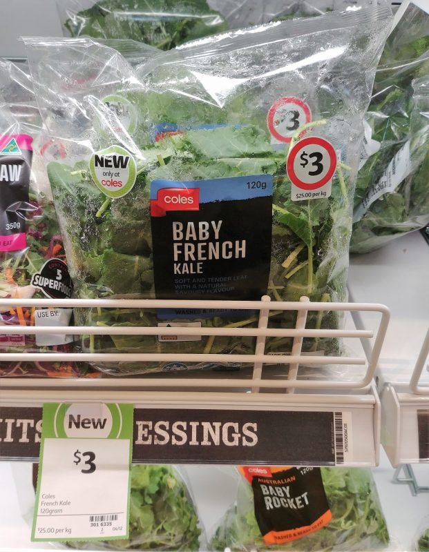 Coles 120g Baby French Kale