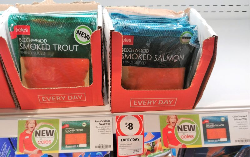 Coles 150g Beechwood Smoked Trout, Smoked Salmon