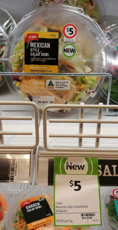 Coles 240g Mexican Style Salad Bowl