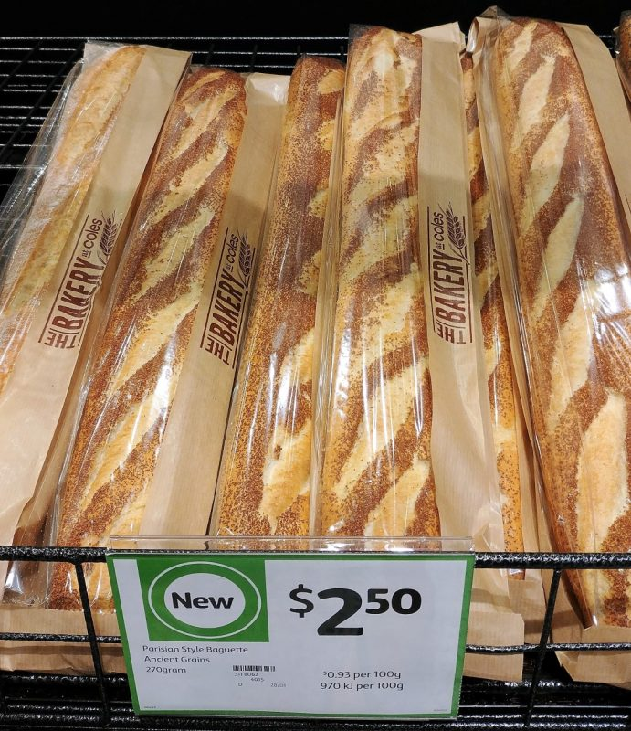 Coles 270g Baguette Parisian Style Ancient Grains