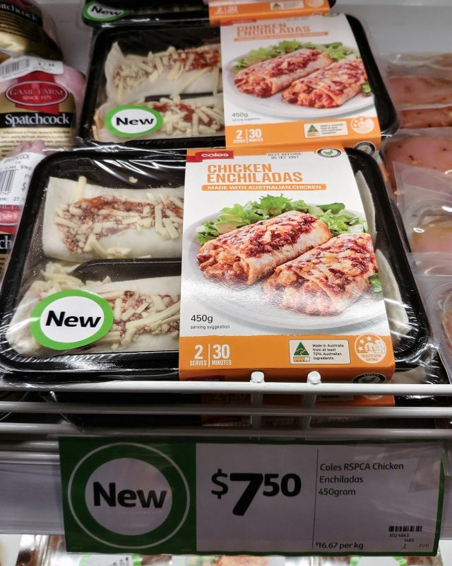 Coles 450g Chicken Enchiladas