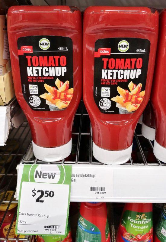 Coles 487mL Tomato Kepchup
