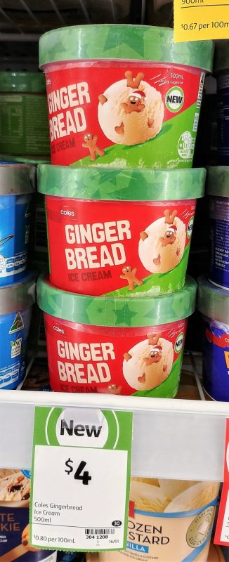 Coles 500mL Ginger Bread Ice Cream