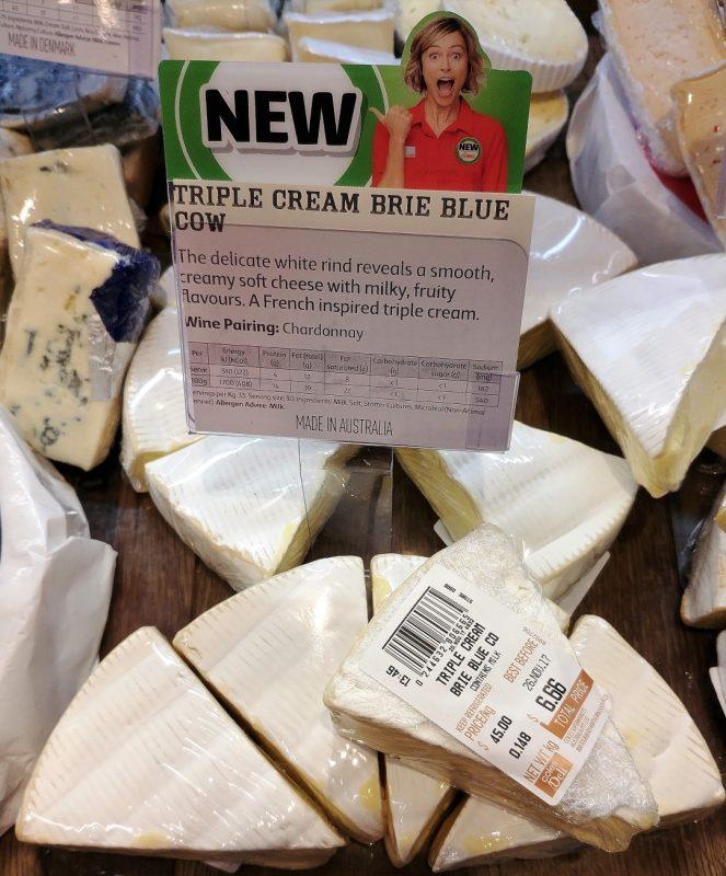 Coles Cheese Triple Cream Brie Blue Cow