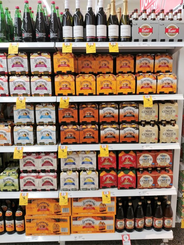 Coles Shelf Bundaberg Range