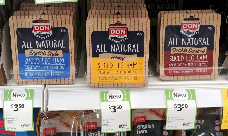 Don 100g All Natural Sliced Leg Ham English Style, Honey, Double Smoked