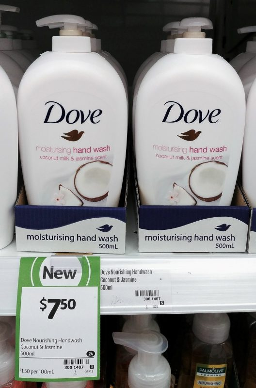 Dove 500mL Hand Wash Coconut Milk & Jasmine Scent