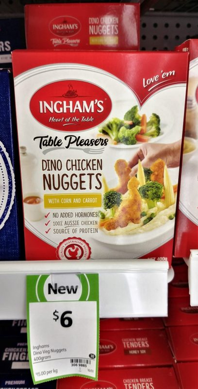 Ingham's 400g Dino Chicken Nuggets With Corn And Carrot