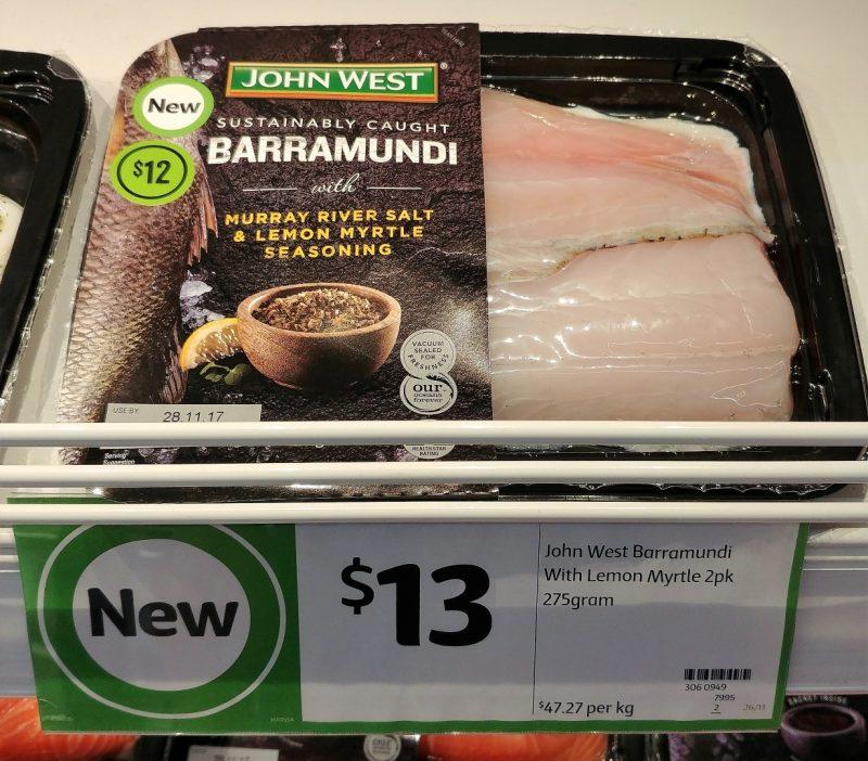John West 275g Barramundi With Murray River Salt & Lemon Myrtle Seasoning