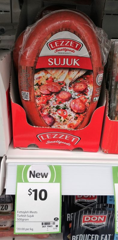Lezzet 500g Sujuk Turkish