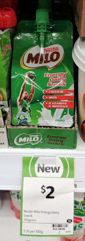 Nestle 150g Milo Energy Dairy Snack