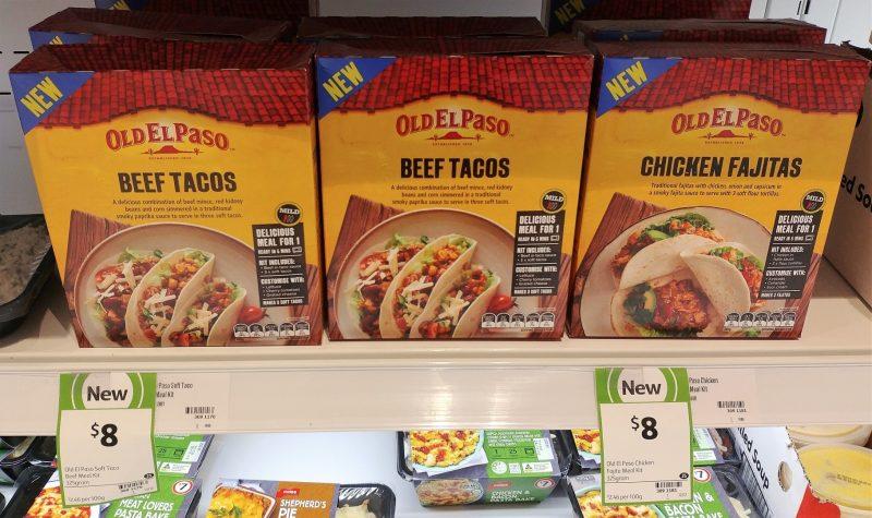 Old El Paso 325g Meal Kit Soft Tacos Beef, Chicken Fajitas