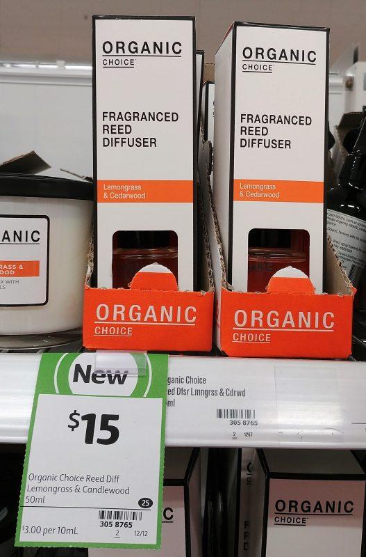 Organic Choice 50mL Fragranced Feed Diffuser Lemongrass & Cedarwood