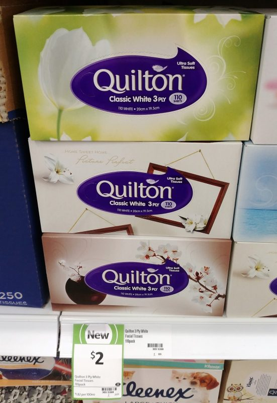 Quilton 110 Sheets Classic White Tissue