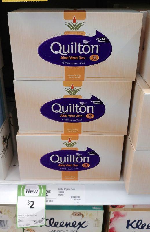 Quilton 95 Sheets Aloe Vera 3 PLY Tissue