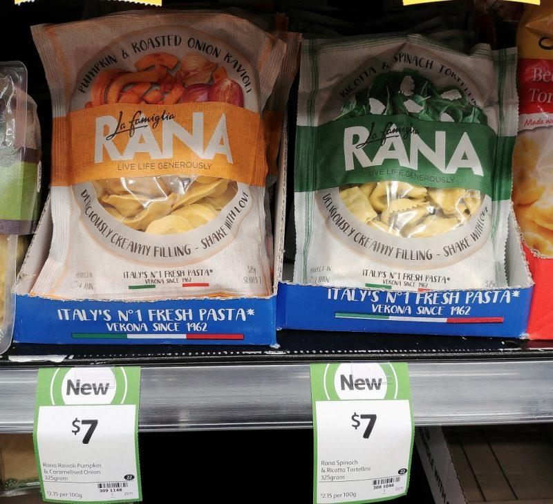Rana 325g Ravioli Pumpkin & Roasted Onion, Tortellini Ricotta & Spinach