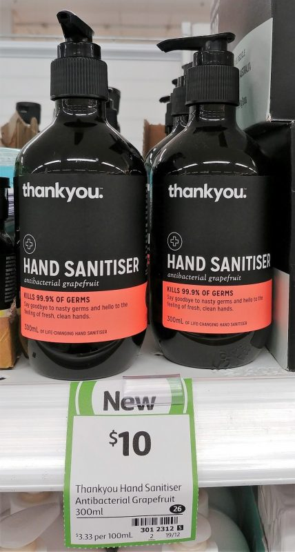 Thankyou 300mL Hand Sanitiser Grapefruit