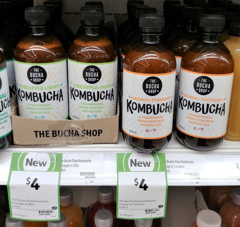 The Bucha Shop 400mL Kombucha Pineapple & Mint, Orange & Turmeric
