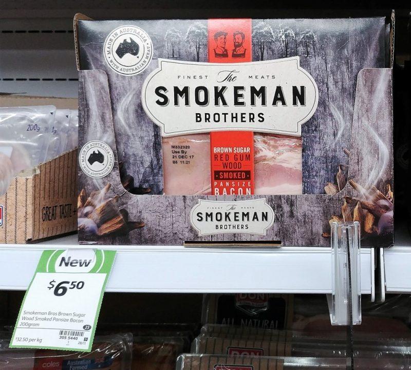 The Smokeman Brothers 200g Brown Sugar Red Gum Wood Smoked Bacon