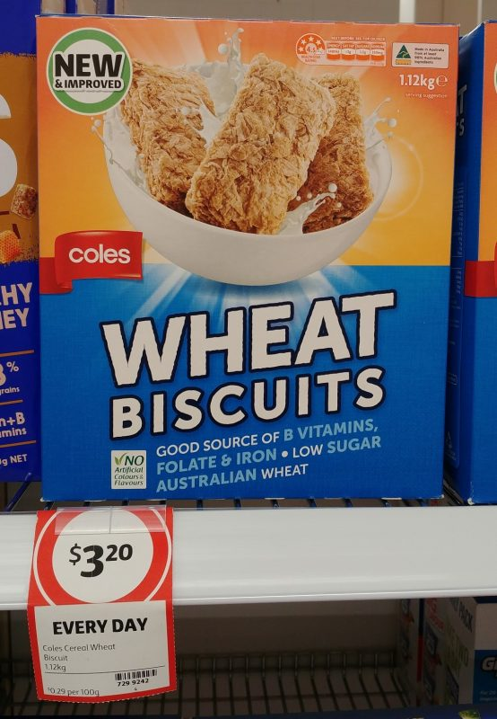 Coles 1.12kg Wheat Biscuits