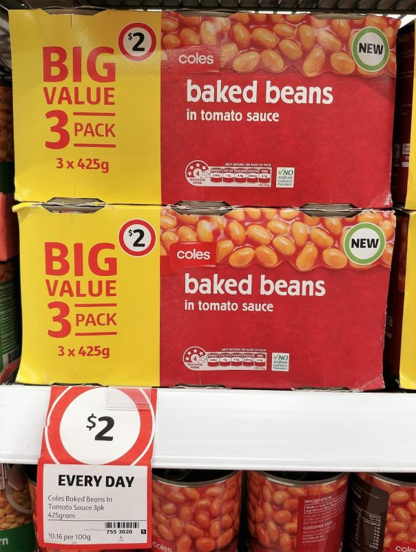 Coles 425g Baked Beans In Tomato Sauce