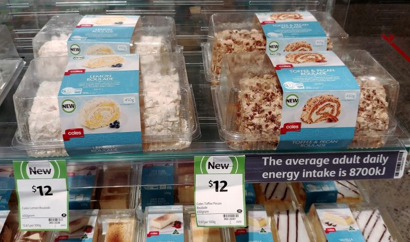 Coles 450g Lemon Roulade, Toffe & Pecan Roulade