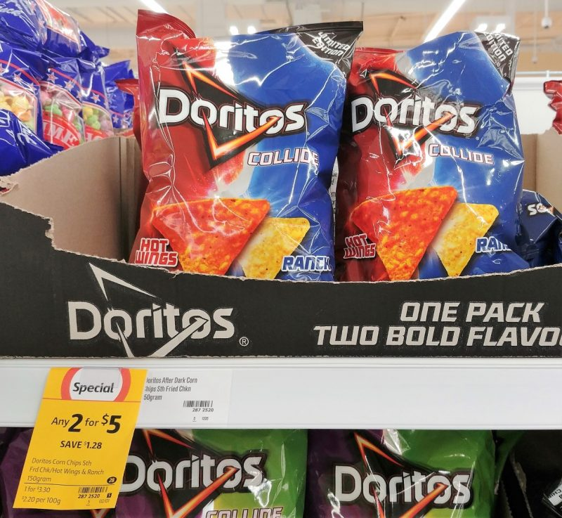 Doritos 150g Corn Chips Collide Limited Edition Hot Wings & Ranch