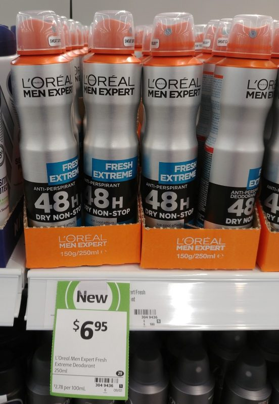L'Oreal 250mL Deodorant Men Expert Fresh Extreme