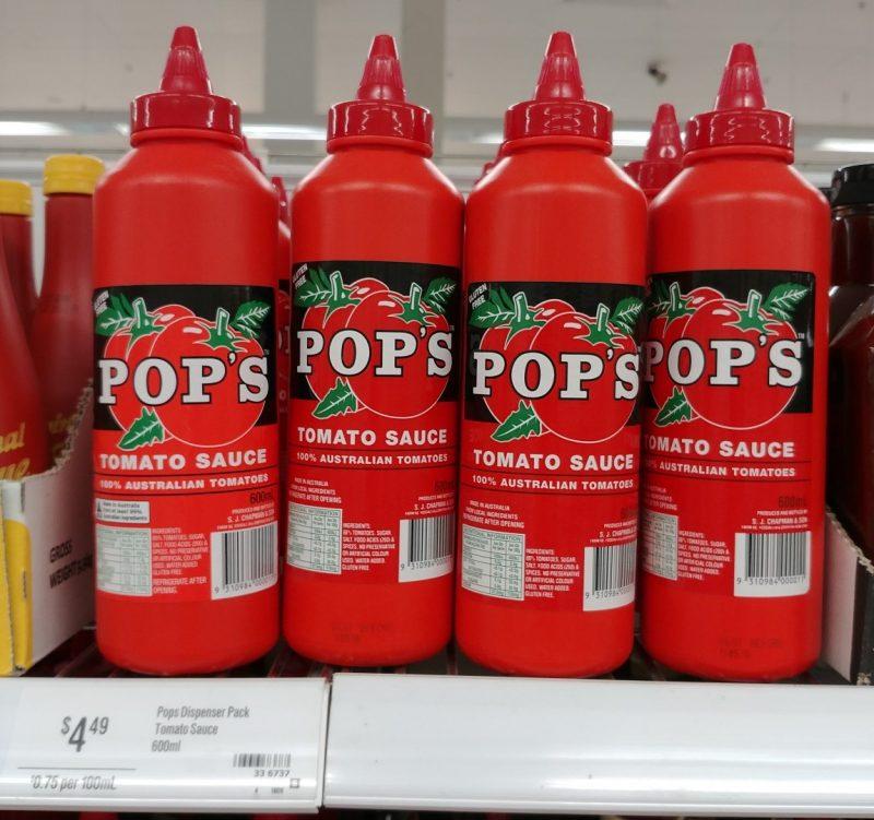 Pop's 600mL Tomato Sauce