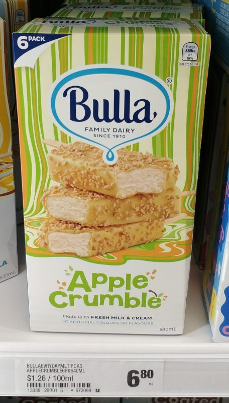 Bulla 540mL Apple Crumble Ice Cream