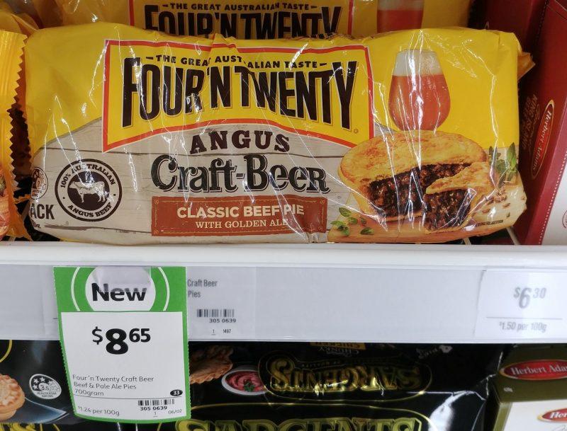 Four 'N Twenty 700g Classic Beef Pie With Golden Ale