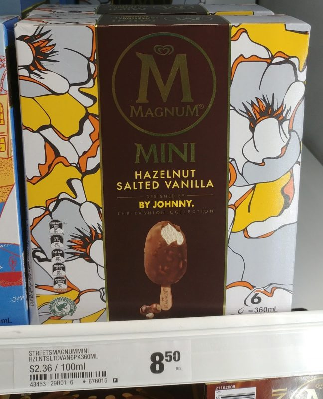 Magnum 360mL Mini Ice Creams Hazelnut Salted Vanilla The Fashion Collection