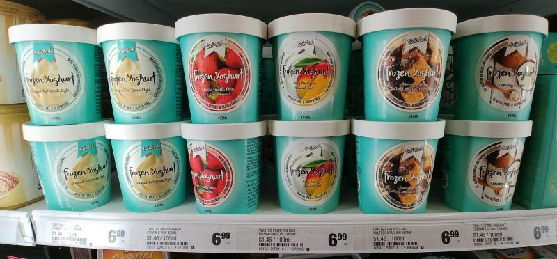 Twisted 480mL Frozen Yoghurt Range