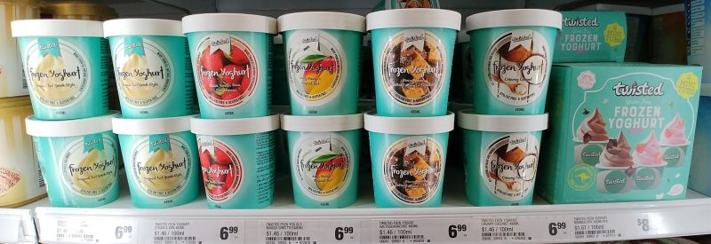 Twisted Frozen Yoghurt Range