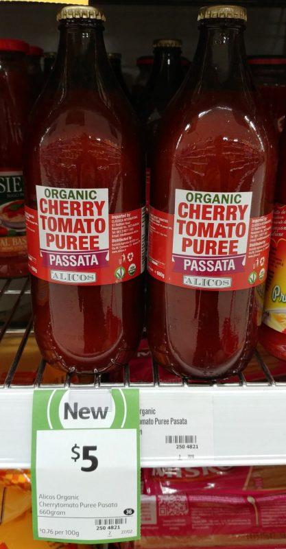 Alicos 660g Organic Cherry Tomato Puree Passata