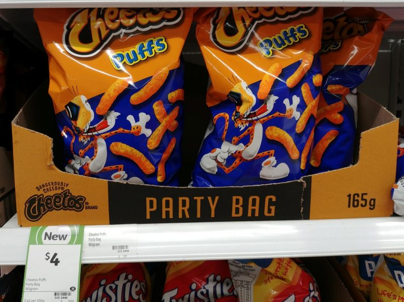 Cheetos 165g Puffs Party Bag