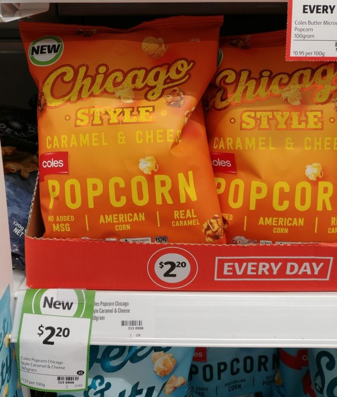 Coles 140g Chicago Style Caramel & Cheese Popcorn