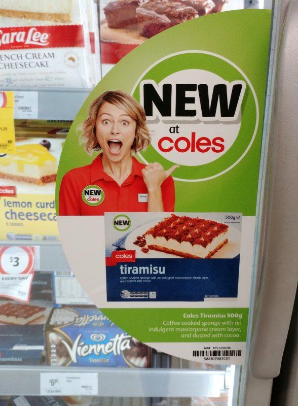 Coles 500g Tiramisu New Girl Jenny