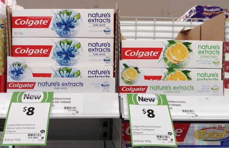 Colgate 100g Toothpaste Nature's Extracts Pure White, Ultimate Fresh