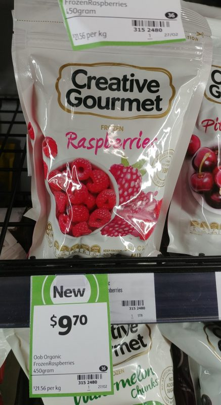 Creative Gourmet 450g Frozen Raspberries