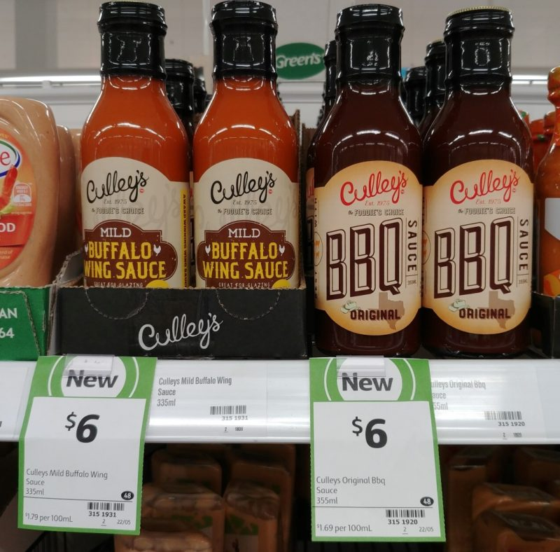 Culleys 335mL Mild Buffalo Wing Sauce, Original BBQ