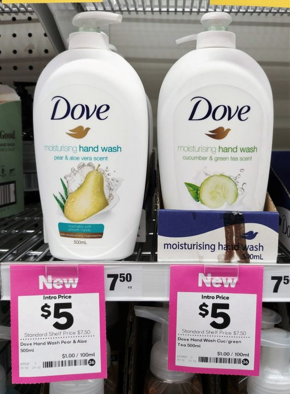Dove 500mL Hand Wash Pear & Aloe Vera Scent, Cucumber & Green Tea Scent