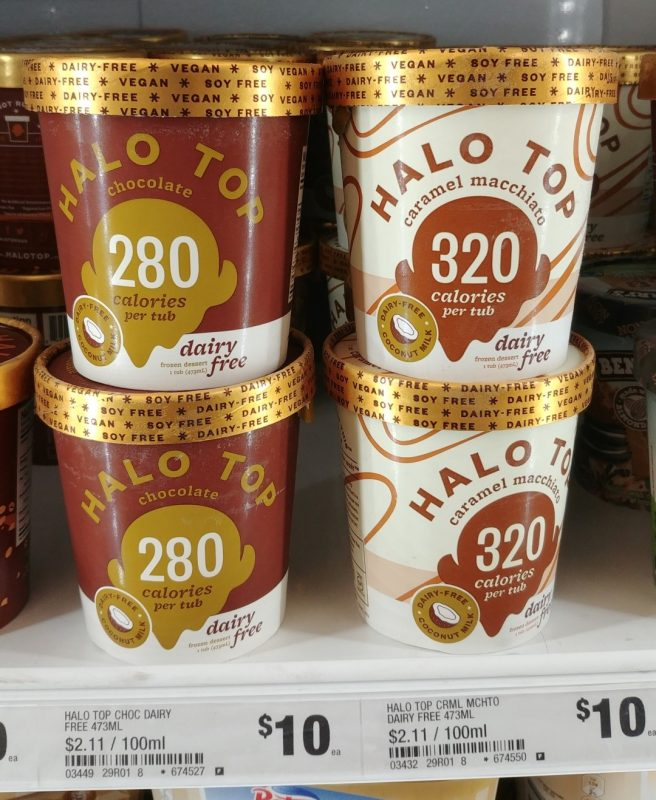 Halo Top 473mL Dairy Free Frozen Dessert Chocolate, Caramel Macchiato