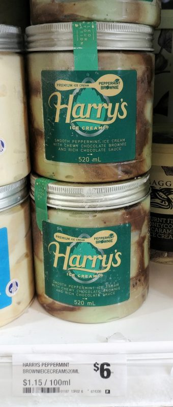 Harry's 520mL Ice Cream Peppermint Brownie