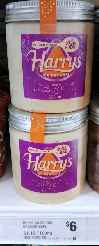 Harry's 520mL Ice Cream Salted Caramel Fudge