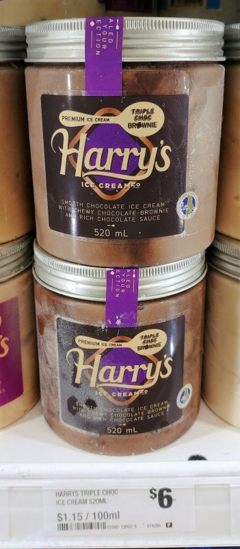 Harry's 520mL Ice Cream Triple Choc Brownie