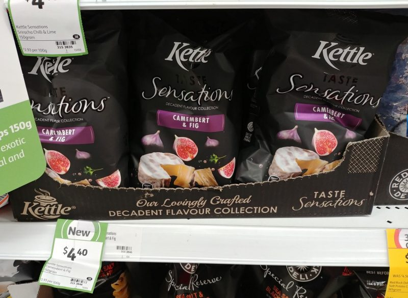Kettle 150g Taste Sensations Camembert & Fig Potato Chips