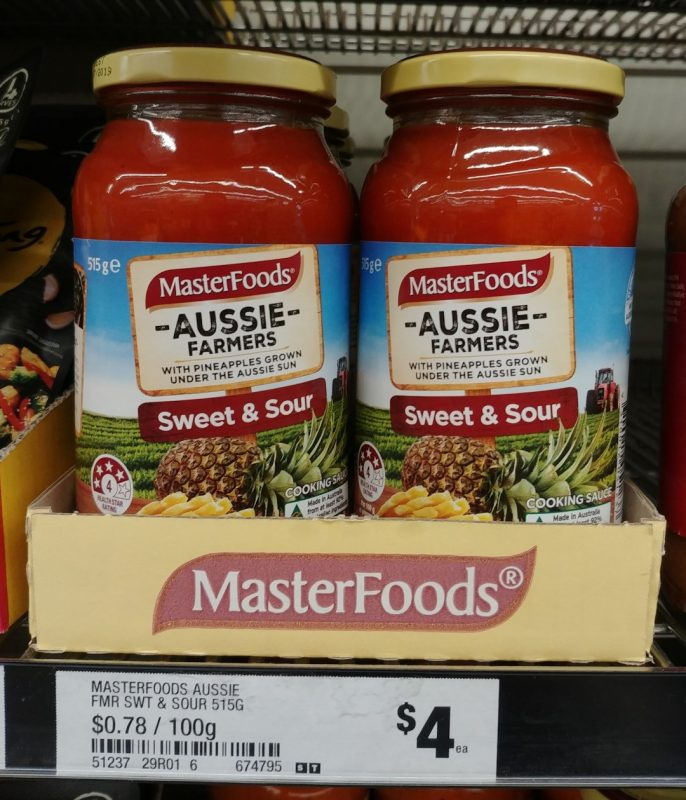 Master Foods 515g Sweet & Sour Aussie Farmers